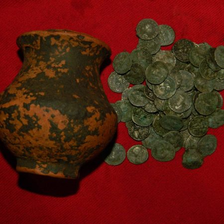 85 roman denarii found with a Detech Relic Striker metal detector