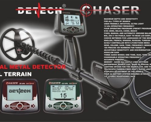 Detector de metale VLF Detech Chaser 14 kHz