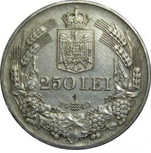 Moneda 250 Lei din 1940